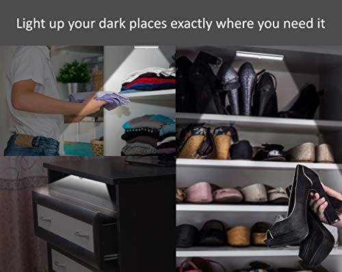 LED:Motion Sensor Night Light: Automatically Lights Up Your Dark Cabinet, Closet, and Night Stand:Stop Fumbling at Night with Our 10 LED Light Strips: Smart Sensor Ignores Motion at Daytime: 3 Pack