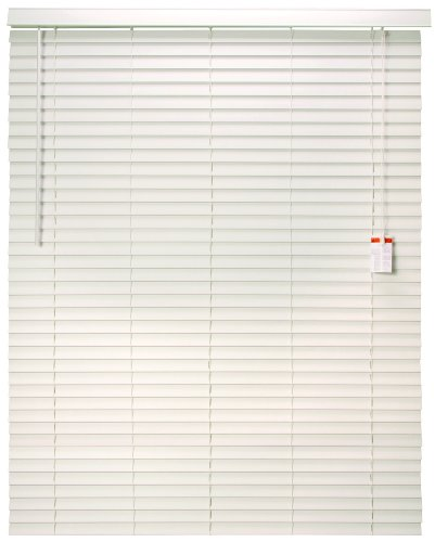 Designer's Touch 883634 Faux Wood 2-Inch Plantation Style Miniblind, 59 by 72-Inch, White ()