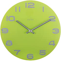 Acctim Mika Glass Wall Clock 30cm Lime