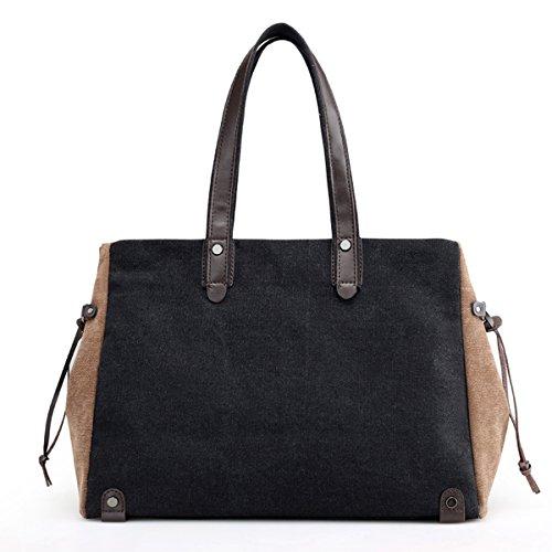 Canvas Women's Wine Bags Red Satchels work Tote Beach school for LOSMILE women Black Leisure Handbag Handle shoulder Top Bag bag use everyday xgHdEqw