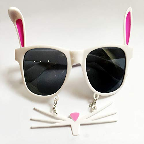 Soochat Easter Bunny Glasses Pink Bunny Eyeglasses Easter Costume Accessory ()