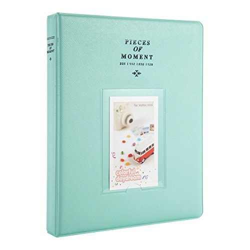 CAIUL Compatible 128 Pockets Mini Photo Album for Fujifilm Instax Mini 7s 8 8+ 9 25 26 50s 70 90 Film, Polaroid PIC-300 Z2300 Film (Ice Blue)