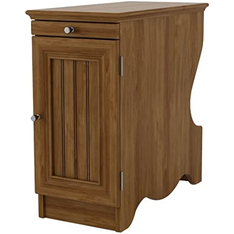 Ameriwood Home Fletcher Side Table With Magazine Storage Brown Oak