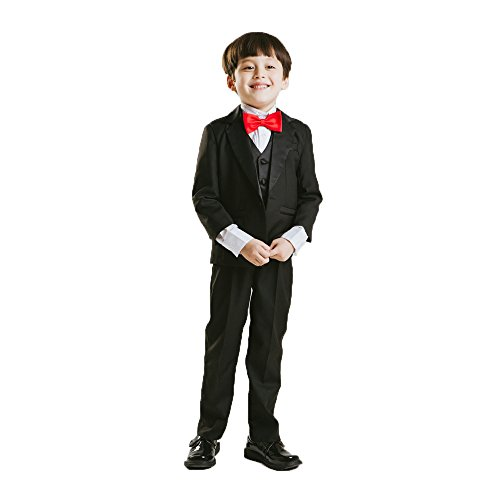 CoCosion Boy's British Style 5-pieces Gentlemen Suit Set by CoCosion