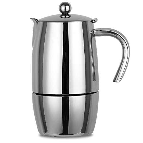 Coffee Maker Stainless Steel Pot : XIHAO Stainless Steel Stovetop Espresso Coffee Maker Moka Pot - Coffee Pigs
