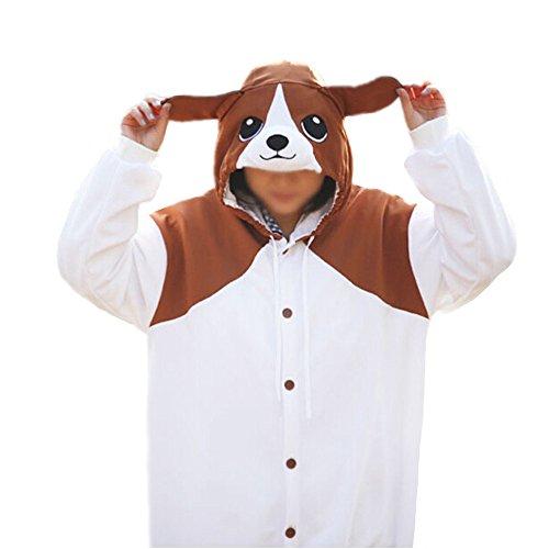 Lifeye Unisex Beagles Pajamas Adult Animal Cosplay Costume Brown]()
