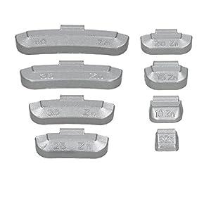 ECD Germany 400x Masse d'équilibrage pour jantes en acier 5-40g Équilibrage des roues revêtues en zinc