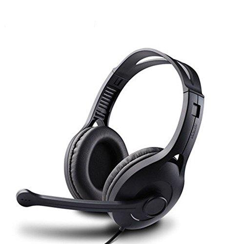 XHKCYOEJ Headset Stereo Headset/Headphones/Headphones/Computer/Cable/Game/Music,Black: Amazon.co.uk: Electronics