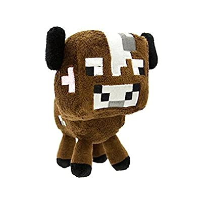 "Zoofy International Minecraft 5"" Baby Cow Stuffed Plush by Cyclone Boys"