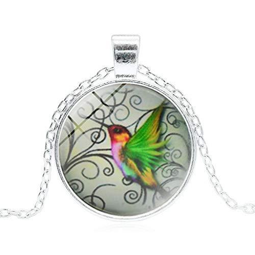 Golf Hummingbird ( Orcbee  _New Hummingbird Jewelry Blue Hummingbird Necklace Charm Pendant Necklace (B))