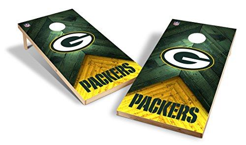 Wild Sports NFL 2'x4' Green Bay Packers Cornhole Set (Green Corn)