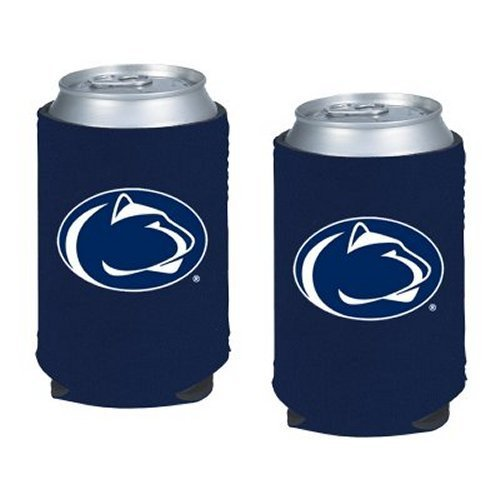 NCAA Penn State - Neoprene Pocket Coolies (2) | Penn State Nittany Lions Collapsible Beverage Insulators - Set of 2