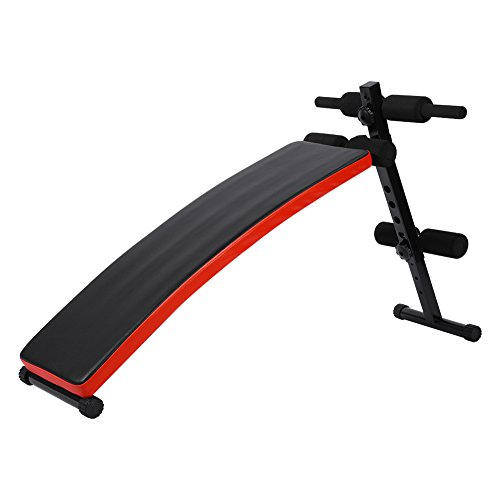 Folding Sit Up Bench Adjustable Gym Weight Bench Abdominal Board Fitness Sit up Crunch Bench Home Gym Fitness Exercise by Estink