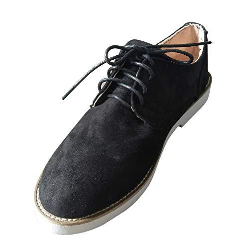 Homme Cheville Dentelle Solides Ronds Chaussures De Daim Travail Noir En Plancher Bouts Femmes Goodyear Panter Sport Couleur Casual Alikeey Scurit wqRxpSZZ