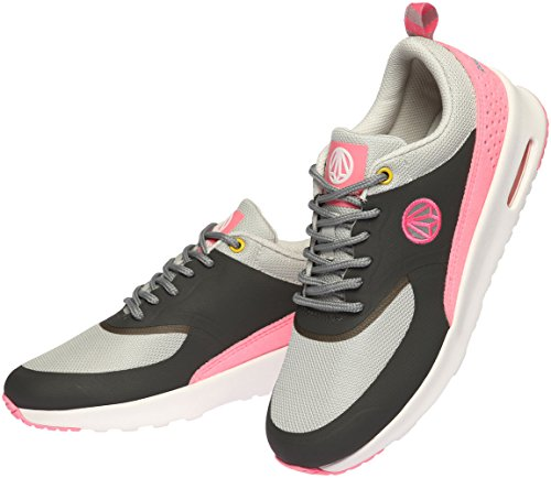 Paperplanes-1330 Sneakers Unisex Casual Leggere Con Cuscino Daria Grigio Rosa