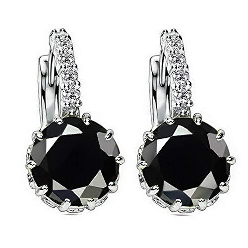 Campton Fashion Woman Multicolor Gold Silver Plated Crystal Ear Hoop Earrings Jewelry | Model ERRNGS - 729 |