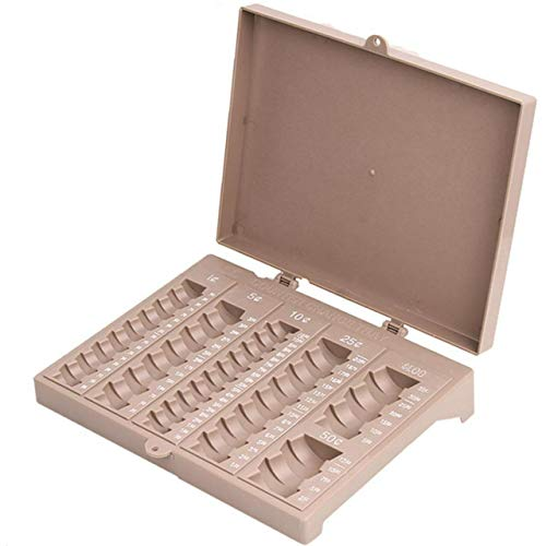 Coin Counter Sorter Money Tray - 6 Compartment Change Organizer and Holder with Secure Cover - Ideal for Bank Tellers Establishments Business or Home Use. Holds Pennies, Nickels, Dimes, Quarters, ()
