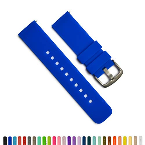 GadgetWraps 22mm Silicone Watch Band - 22mm Watch Band Silicone with Quick Release Watch Pins - for Men and Women 22mm Quick Release Watch Band with 29 Unique Colors (22mm, Cobalt Blue)
