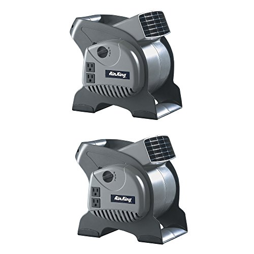 Air King 3-Speed Pivoting Utility Blower Fan with 2 Grounded Outlets (2 Pack)