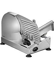 Clatronic MA 3585, metalen allessnijder, broodsnijmachine, worstsnijder elektrisch, met groot mes van roestvrij staal (Ø 190 mm), elektrische snijmachine, 150 watt