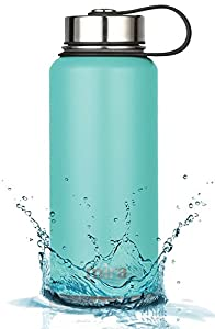 MIRA 32 Oz Stainless Steel Vacuum Insulated Wide Mouth Water Bottle | Thermos Keeps Cold for 24 hours, Hot for 12 hours | Double Wall Powder Coated Travel Flask | Teal