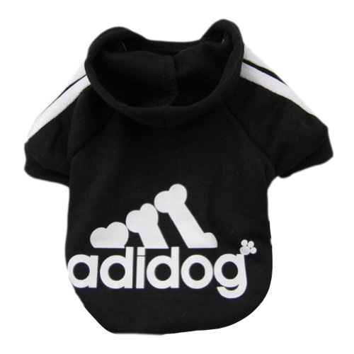 Zehui Pet Dog Cat Sweater Puppy T Shirt Warm Hoodies Coat Clothes Apparel Black L
