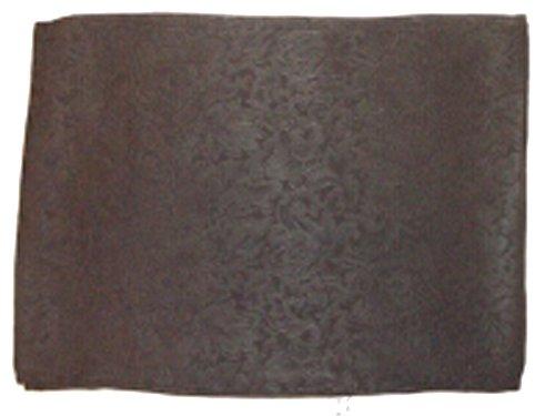 Wyoming Traders Mens Jacquard Silk Wild Rag Scarf Black 34.5