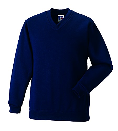 Russell Workwear - Sweat-shirt -  - Uni - Col V - Manches longues Homme Bleu French Navy Xx-large -  Bleu - Bleu marine - Large