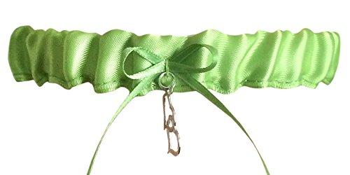 Green Tossing Wedding Garter, Green Prom Garter, Bridal Garter, Green Weddings, Garters Wedding (Apple Green, Regular)