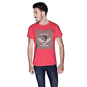 Creo Give Respect T-Shirt For Men - S, Pink