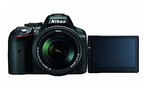 Nikon D5300 24.2MP Digital SLR Camera(Black) with AF-P 18-55 and AF-P DX NIKKOR 70-300mm f/4.5-6.3G VR Kit, Free Camera…