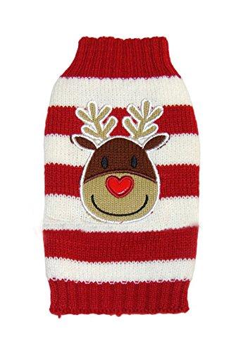 [Freerun Pet Cute Elk Pet Cartoon Elk Dog Sweater Cat Clothes - Red, M] (Cow Hooves Costume)