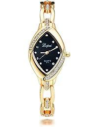 Women's Rhombic Gold Watch with Diamonds Analog Quartz P128-4…