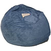 Fun Furnishings Beanbag, Large, Ocean Blue Micro Suede