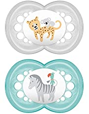 MAM Original Pacifier (2 pack, 1 Sterilizing Pacifier Case), Pacifiers 16 Plus Months, Unisex Baby Pacifier, Best Pacifiers for Breastfed Babies