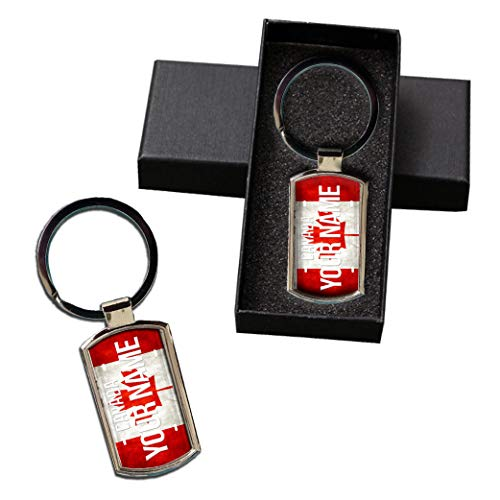 BRGIftShip Customize Your Own License Canada Flag Country Plate Metal Keychain - Check Souvenir Cup