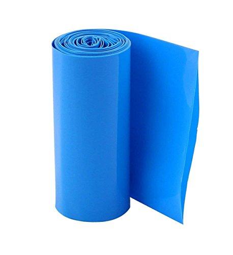 - YXQ 2M 103mm Flat 2.6'' Dia PVC Heat Shrink Tube Tubing Wrap for 18650 Battery Blue