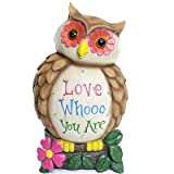 Alpine ZEN224L 'Love Whooo You are' Owl Statuary, 8″, Multicolor Review