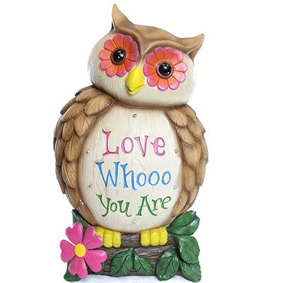 "ALPINE ZEN224L 18"" Solar Owl Statuary"