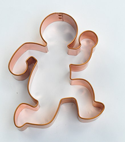 ecrandal Running Gingerbread Man copper cookie cutter