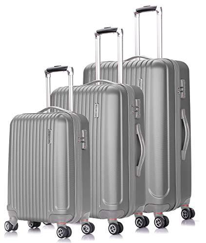 (TravelCross Berkeley Classic Luggage Lightweight Spinner Set (Silver, 20''+24''+28''))