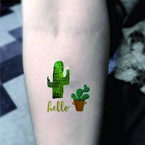 Fiesta Tatuajes Cactus y flores Tatuajes para pegar pt02: Amazon ...