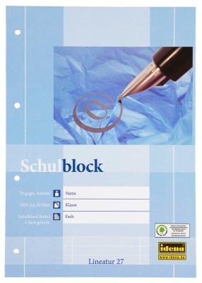 2 Schulblöcke /Schreibblöcke liniert DIN A4 / 50 Blatt je Block