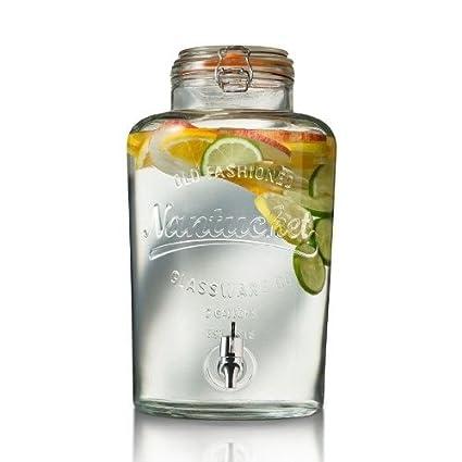 Dispensador de cristal con tapa 8.5 L, una gran capacidad para bebidas dissetanti. Hecha