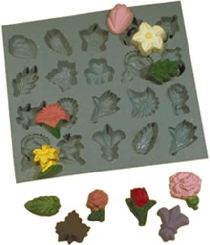 Flower & Leaves, Rubber Mold