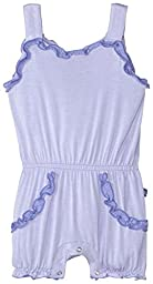 KicKee Pants Baby Girls Solid Sweetie Pie Romper W/contrast Trim Prd-kpor854-lcfmn, Lilac with Forget Me Not, 18-24 Months