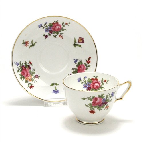 Dresden Spray by Crown Staffordshire, China Cup & - Cup Staffordshire Saucer