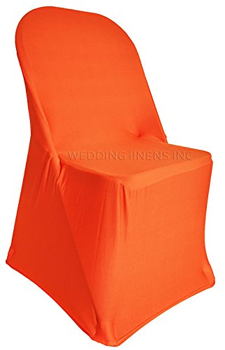 Prime Wedding Linens Inc 2 Pcs Spandex Folding Fitted Chair Covers Lycra Stretch Elastic Wedding Party Decoration Chair Orange Creativecarmelina Interior Chair Design Creativecarmelinacom