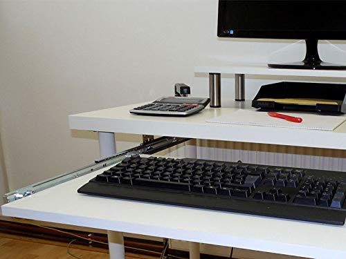 EisenRon Tastaturauszug Alu grau 80x40 cm Nutzh/öhe 47mm Schublade Auszug f/ür Tastatur