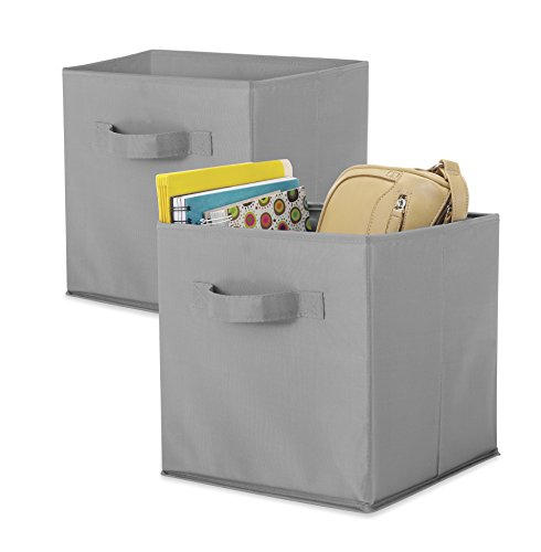Whitmor Collapsible Cubes-Set of 2, Paloma Gray, 10